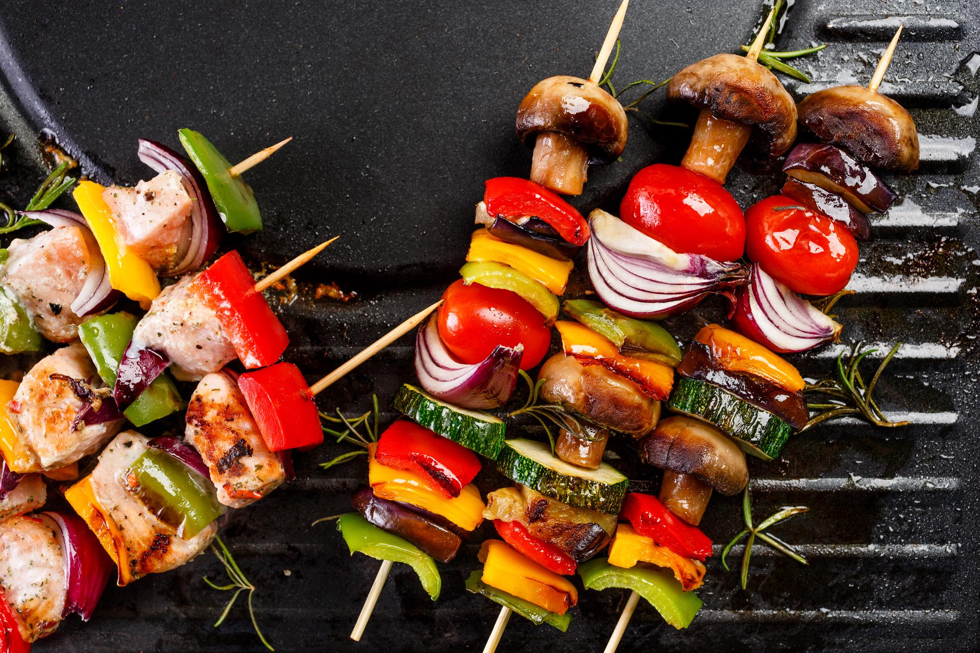 шашлык из овощей рецепт с фото